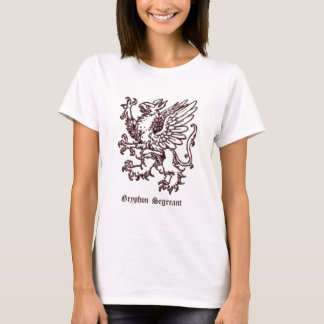 Gryphon segreant medieval heraldry T-Shirt