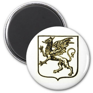 GRYPHON SHIELD IN SEPIA TONE VINTAGE PRINT MAGNET
