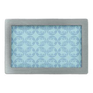 Gryphon Silhouette Pattern - Light Blue Belt Buckle