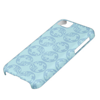 Gryphon Silhouette Pattern - Light Blue Cover For iPhone 5C
