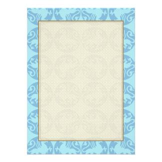 Gryphon Silhouette Pattern - Light Blue Custom Invites