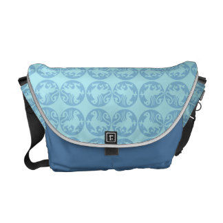 Gryphon Silhouette Pattern - Light Blue Messenger Bag