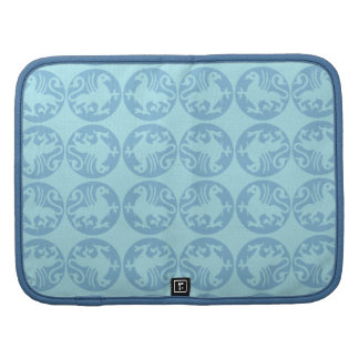 Gryphon Silhouette Pattern - Light Blue Folio Planner
