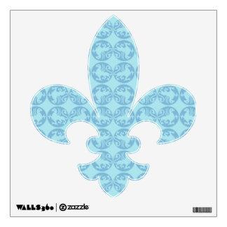 Gryphon Silhouette Pattern - Light Blue Wall Sticker