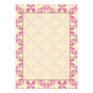 Gryphon Silhouette Pattern - Pink and Pale Yellow Announcement