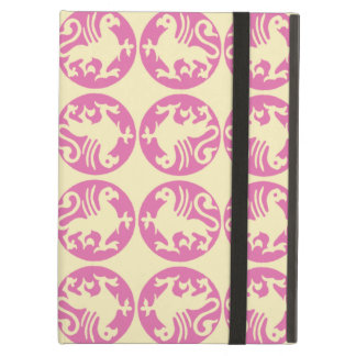 Gryphon Silhouette Pattern - Pink and Pale Yellow iPad Air Case