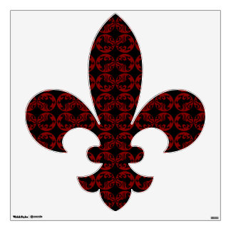Gryphon Silhouette Pattern - Red and Black Wall Sticker