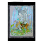 Gryphon & the Fairy Dragon Greeting Card