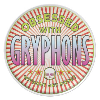 Gryphons Obsessed R Party Plate