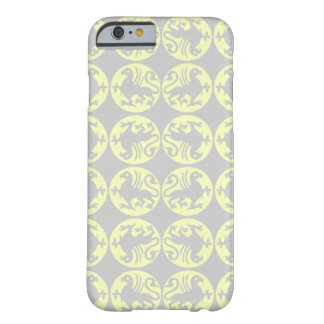 Gryphons Silhouette Pattern - Pale Yellow and Gray Barely There iPhone 6 Case