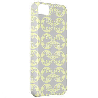 Gryphons Silhouette Pattern - Pale Yellow and Gray iPhone 5C Cover