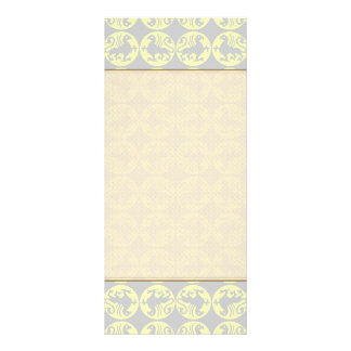 Gryphons Silhouette Pattern - Pale Yellow and Gray Personalized Rack Card