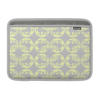 Gryphons Silhouette Pattern - Pale Yellow and Gray Sleeve For MacBook Air