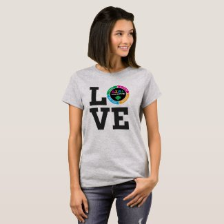 GS Love GIRL Shirt (Adults) Fun Spring Uniforms for Girl Scout Leaders