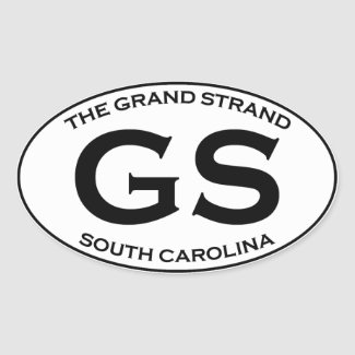 GS - The Grand Strand South Carolina Oval Sticker
