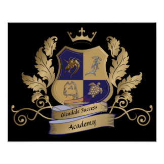 GSA House Crest No Wings Blue Gold Poster