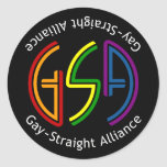 GSA Neon Round Dark Sticker