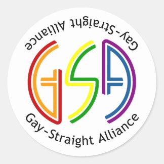 GSA Neon Round Light Sticker