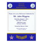 """GSA Retirement Invitation 6.5"""" X 8.75"""" Invitation Card"""