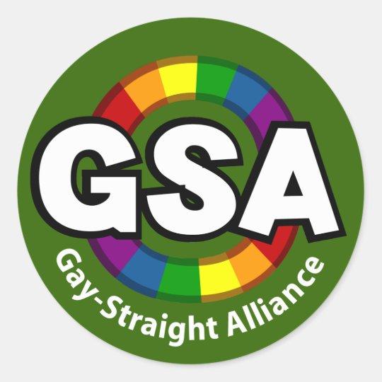 GSA ToonA Round Dark Sticker