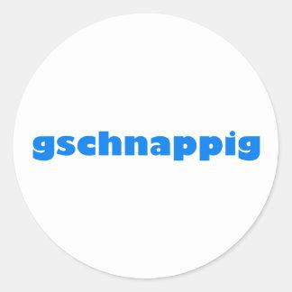 gschnappig Bayern bayrisch bayerisch Bavaria Classic Round Sticker