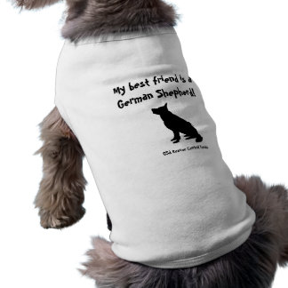 GSD best friend t-shirt for little dogs