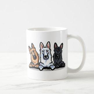 GSD Black White and Tan Coffee Mug