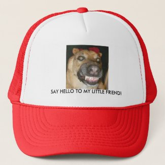 GSD Dog Say Hello to My Little Friend Trucker Hat