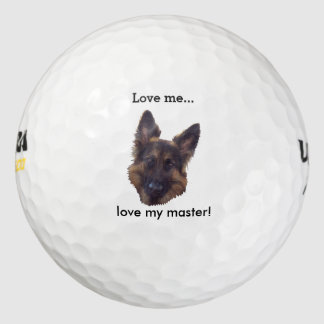 "GSD Golf Ball, ""Love me, love my Master"". Golf Balls"