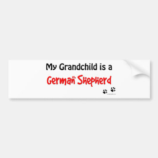 GSD Grandchild Bumper Sticker