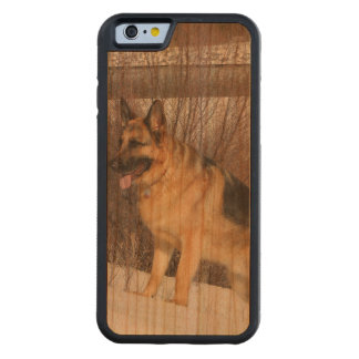 GSD in Winter Snow Carved® Cherry iPhone 6 Bumper Case