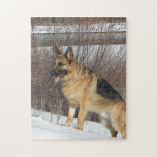 GSD in Winter Snow Jigsaw Puzzle