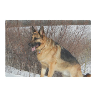 GSD in Winter Snow Placemat
