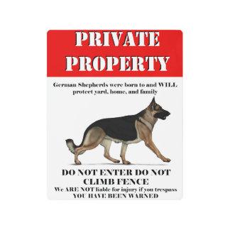 GSD private Property Metal Print