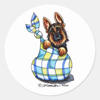 GSD Sack Puppy Classic Round Sticker