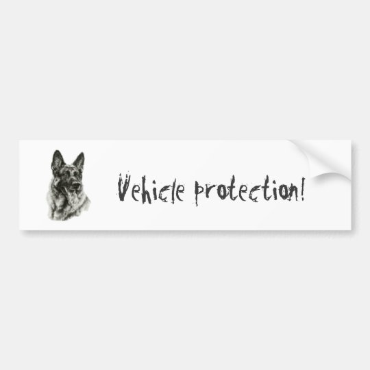gsd, Vehicle protection! Bumper Sticker