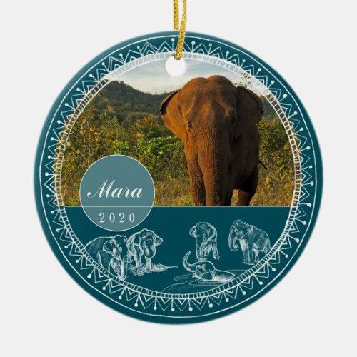 GSE Round Mara Porcelain Ornament