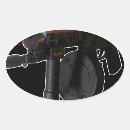 Gsg5 (negro) mal equipado calcomania de óval personalizadas