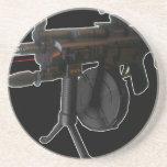 Gsg5 (negro) mal equipado posavasos personalizados