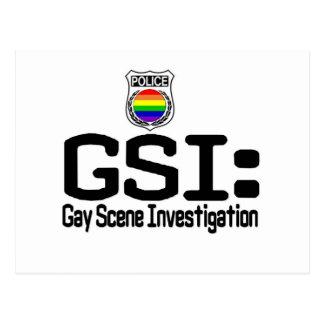 GSI:  Gay Scene Investigation Postcard