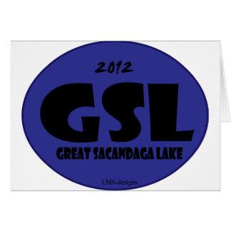 GSL D azul Tarjeta De Felicitación