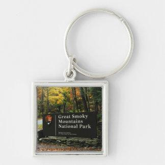 GSMNP Sign - Autumn colors Keychain