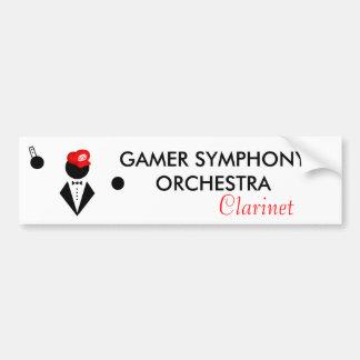 GSO Clarinetist Bumper Sticker