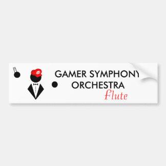 GSO Flautist Bumper Sticker