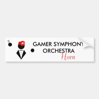 GSO Horn Bumper Sticker