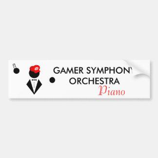 GSO Piano Bumper Sticker