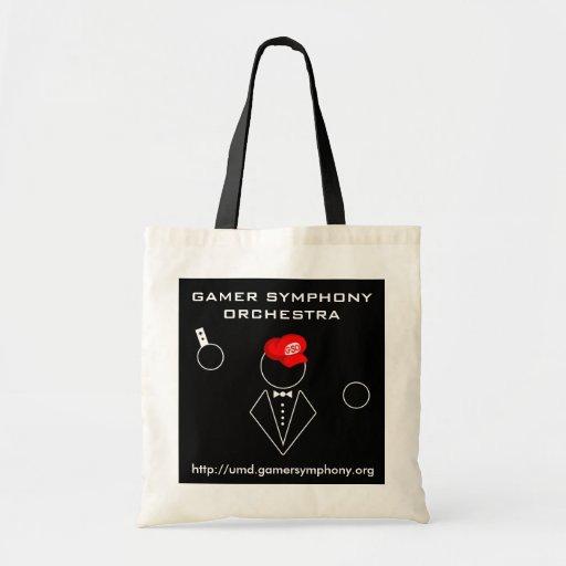 GSO Small Tote Black Canvas Bag