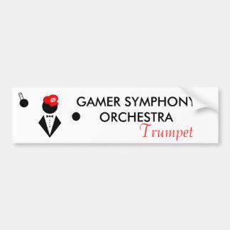 GSO Trumpeter Bumper Sticker Car Bumper Sticker