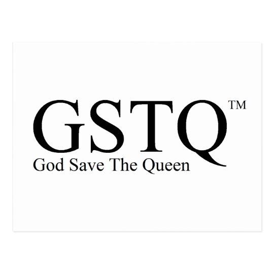 GSTQ - God Save The Queen Postcard
