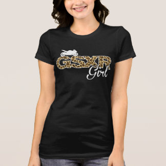 GSXR Girl-Leopard with back print Tee Shirts